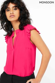 Monsoon Pink Pippa Blouse