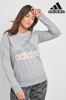 adidas Grey Essential Sweat Top