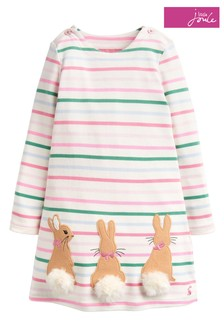 Joules Kaye Appliqué Jersey Dress