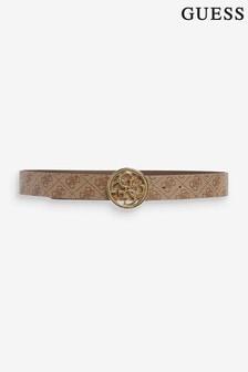 Guess Beige Cordelia Repeat Logo Belt