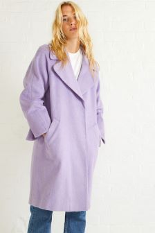 Oliver Bonas Lilac Oretta Relaxed Coat