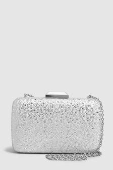 Boxy Jewel Clutch Bag