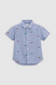 Embroidered Stripe Shirt (3mths-6yrs)