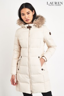 Lauren Ralph Lauren® Cream Padded Down Coat