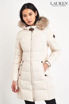 Lauren Ralph Lauren® Cream Padded Down Coat