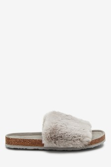 4e0dcba5108 Womens Slippers | Mules, Ballerina & Faux Fur Slippers | Next UK