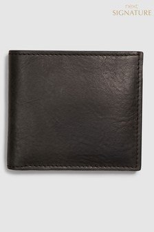 Signature Black Label Leather Bifold Wallet