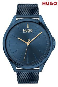 HUGO Smash Blue IP Mesh Strap Watch