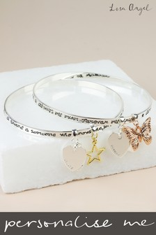 Personalised 'A Friend Is Someone' Charm Bangle by Lisa Angel