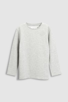Textured Long Sleeve Top (3-16yrs)