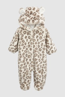 Leopard Faux Fur All-In-One (0mths-2yrs)