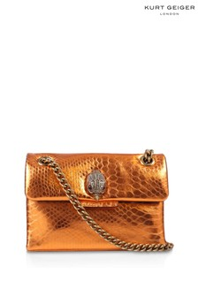 Kurt Geiger London Orange Mini Kensington Cross Body Bag