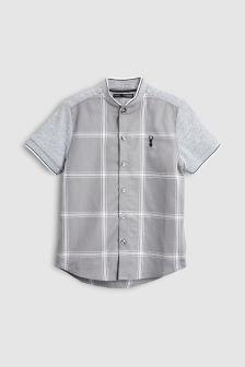 Short Sleeve Check Baseball Shirt (3-16yrs)