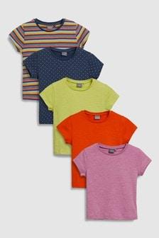 מארז חמש חולצות-טי עם שרוול קצר (3 חודשים-6 שנים)