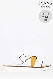 Evans Multi Extra Wide Fit Crossover Sandals