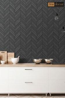 Fine Décor Ceramica Chevron Wallpaper