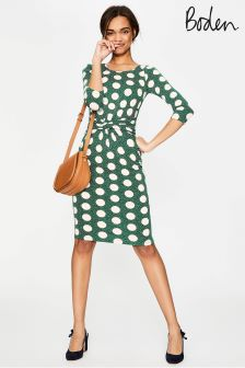 Boden Green Michelle Jersey Dress