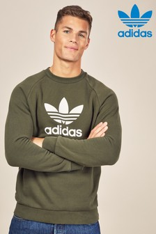adidas Originals Green Trefoil Crew