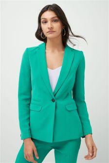 Crepe Single Breasted Jacket