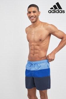 adidas Real Blue Colour Block Swim Short