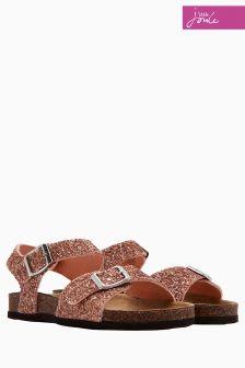 Joules Gold Glitter Tippytoes Sandal