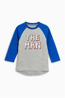 The Man Raglan Long Sleeve T-Shirt (3mths-6yrs)