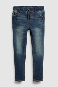 1baaea338db Jersey Look Denim Pull-On Jeans (3-16yrs)