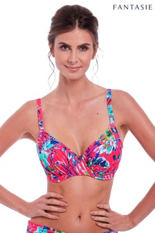 Fantasie Pink Fiji Gathered Full Cup Bikini Top