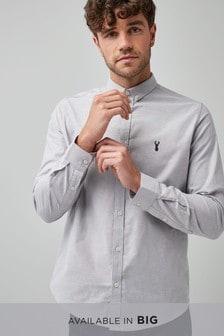 Elastyczna koszula oksford o dopasowanym kroju z długim rękawem