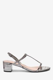 Thin Strap Block Sandals