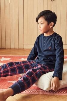 Check Cosy Fleece Bottom Pyjamas (9mths-16yrs)