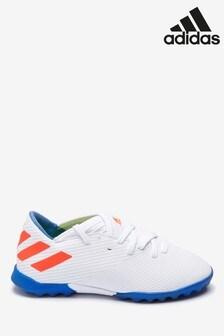 adidas White Redirect Messi Nemeziz Turf Junior & Youth Football Boots