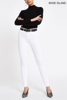 River Island Molly Mellow Jeans, weiß