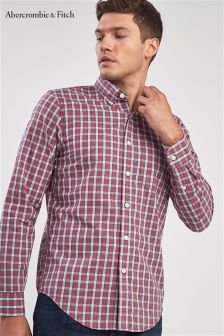 Abercrombie & Fitch Red Wide Check Shirt