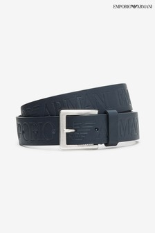 Emporio Armani Blue Tongue Belt
