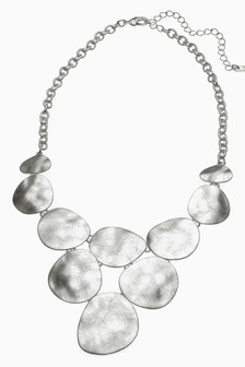 Hammered Effect Statement Necklace