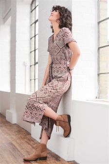 Aztec Jacquard Dress