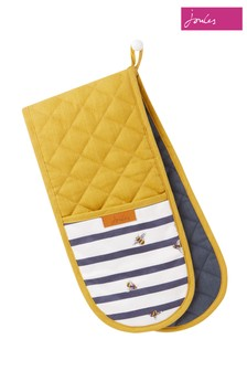 Joules Bee And Striped Double Oven Glove