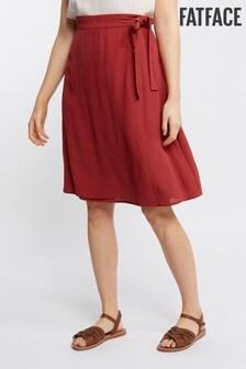 FatFace Red Rita Posy Wrap Skirt
