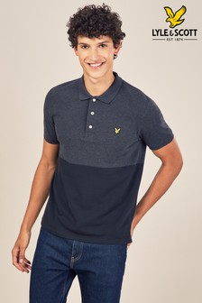 Lyle & Scott Black Colourblock Poloshirt
