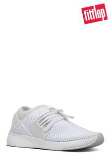 FitFlop™ White Mesh Angeline Lace-Up Sneaker