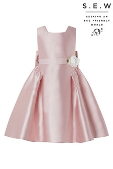 Monsoon S.E.W Recycled Pink Pearl Duchess Dress