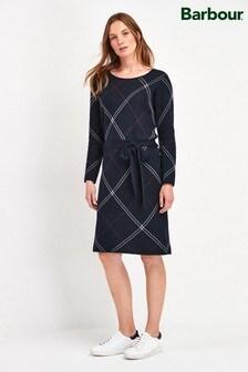Barbour® Tartan Navy Check Allison Jumper Dress