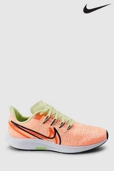 Nike Run Pink Air Zoom Pegasus 36 Rise Trainers