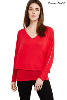 Phase Eight Red Gisella Double Layer Knit