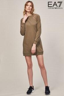 Emporio Armani EA7 Khaki Sweat Dress