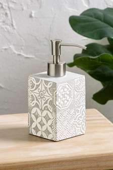 Tile Print Soap Dispenser