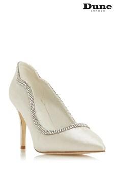 Dune London Billi Ivory Satin Diamante Embellished Wedding Shoes
