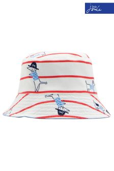 Joules Red Stripe Brit Reversible Sun Hat