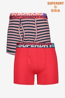 Superdry Multi Boxer Two Pack